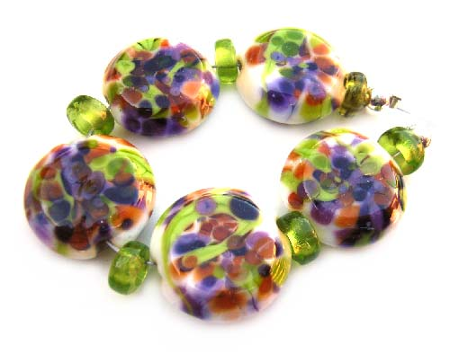Tutti Frutti - Artisan Glass Lampwork Beads ~ Ian Williams