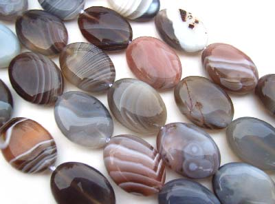 Botswana Agate ~ 17x13mm Oval ~ Gemstone Beads x1