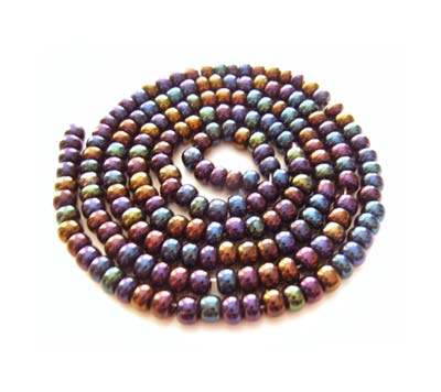 Czech Seed Beads 8/0 Jet AB 1 mini Hank