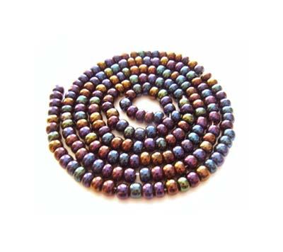 Czech Seed Beads 11/0 Jet AB mini hank