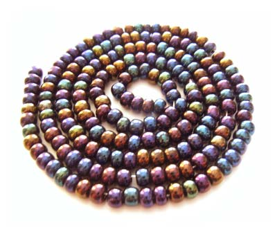 Czech Seed Beads 6/0 Jet AB 1 mini Hank