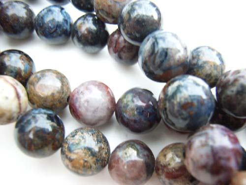 Peitersite 8mm Round Gemstone Beads x1
