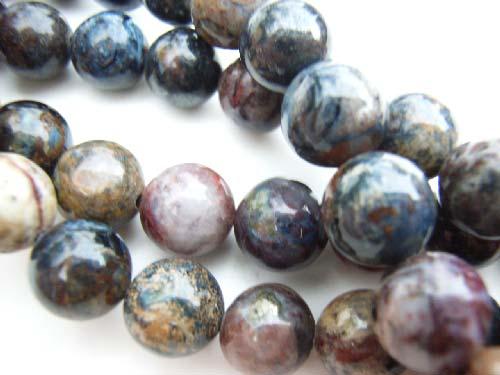 Peitersite 8mm Round Gemstone Beads x1