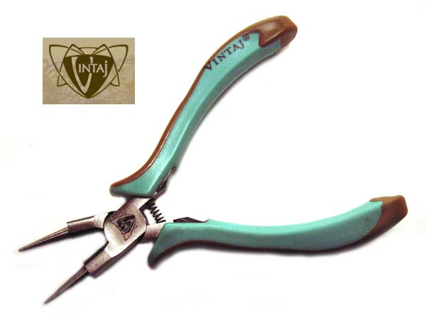Vintaj - Round Nose Pliers with Cutter (Rosary)