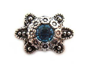 Swarovski Crystal ~ Pure Allure Slider ~ 9x14mm Ornate Tortoise - Aquamarine