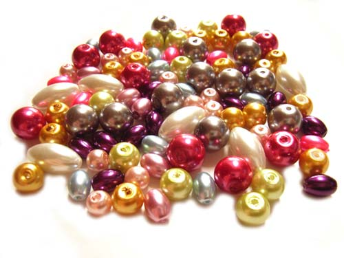 Faux Pearls Glass - 60g Bead Soup Mix