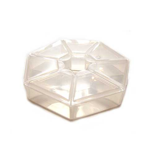 Plastic Storage Box for Beads - 7 Compartment Container Wheel 83x17.5mm