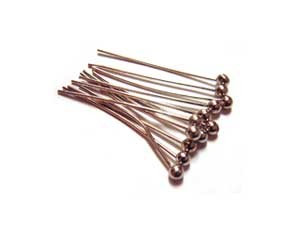Nickel Colour Brass 26g Ball Ballpoint Head Pins 20mm x150 approx