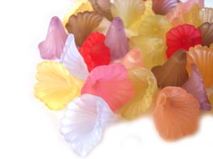 Lucite Flowers 11.5x9.5mm Orchid Frosted Bead 11.5g Soup Mix