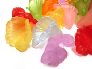 Lucite Flowers 16x15x15mm Orchid Frosted Bead 11.5g Soup Mix