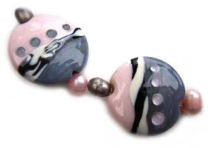 New Romantic Set - Ian Williams Artisan Glass Lampwork Beads