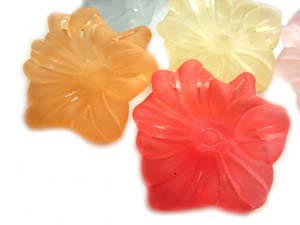 Lucite Flowers 28x28x7mm Lily Frosted Drops 14g Soup Mix