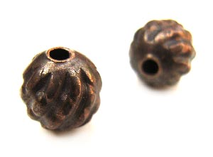 Vintaj Natural Brass 7.5x7mm Pineapple Bead x1