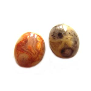 Cabochon - Crazy Agate 10x8mm Oval x1