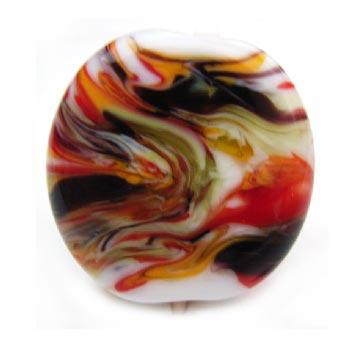Autumn Tempest - 27mm ~ KGBeads Handmade Artisan Glass Lampwork Pendant Bead x1