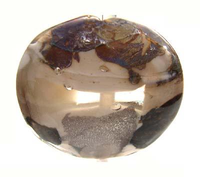 36mm ~ Ian Williams Handmade Artisan Glass Lampwork Pendant Bead x1