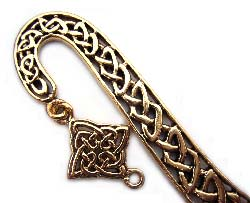 Celtic Charm Gold Pewter Bookmark x1