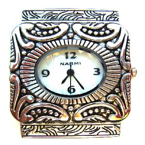 Watch Face for beading 38x35mm Narmi - Silver - 5-Strand