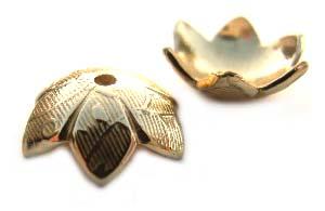 Pure Brass ~ Anti Tarnish ~ Bead Cap 9mm x1