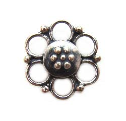 BALI Sterling Silver 13mm Daisy Chandelier Link Connector x1