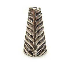 Thai Karen Hill Tribe Silver - 14mm Ribbed Cone x1