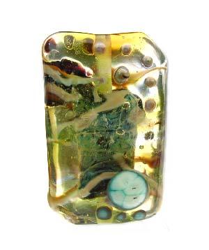37x24mm - Ian Williams Handmade Artisan Glass Lampwork Pendant Bead x1