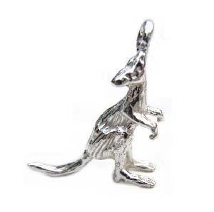 Sterling Silver Charms - 17x15m Kangaroo Charm x1
