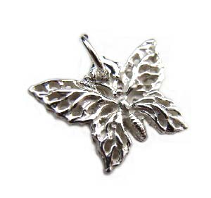 Sterling Silver Charms - 17x12mm Filigree Butterfly Charm x1