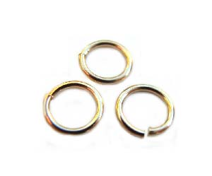 Gold Filled 14kt (5mm) 5.1mm 20g Soldered Closed Jump Ring 3.5mm i.d. x1