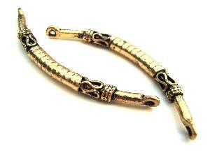 Bali Style Bracelet Link Bar Gold #A x1