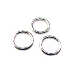 Sterling Silver - 5.5mm 21g Open Jump Ring 4.1mm i.d x10