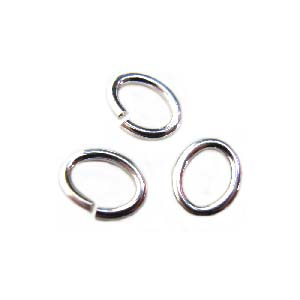 Sterling Silver - 6.7x5.4mm OVAL Open Jump Ring 4.8x3.6mm i.d x1