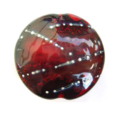 Wine Pool 35.5x12.5mm - Ian Williams Handmade Artisan Glass Lampwork Pendant Bead x1