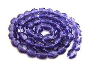 Czech Glass Fire Polished beads - 3mm Tanzanite x50