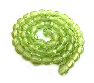 Czech Glass Fire Polished beads - 3mm Olivine x50