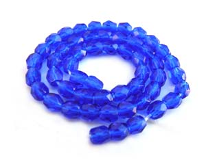 Czech Glass Fire Polished beads - 3mm Cobalt x50