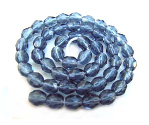 Czech Glass Fire Polished beads - 3mm Montana Blue x50