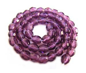 Czech Glass Fire Polished beads - 3mm Amethyst x50