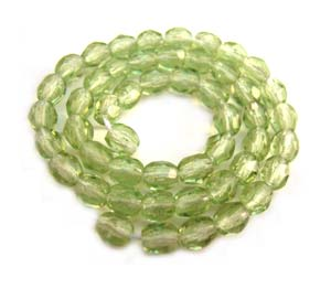 Czech Glass Fire Polished beads - 3mm Lime Green x50