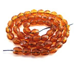 Czech Glass Fire Polished beads - 3mm Topaz Dark