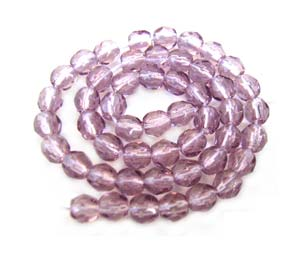 Czech Glass Fire Polished beads - 3mm - Amethyst Light x50