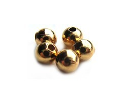 Base Metal Beads - 4mm Round Spacer Gold Plated x144