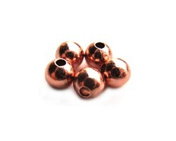 Base Metal Beads - 5mm Round Spacer Copper Plated x72 approx