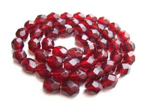 Czech Fire Polished beads 4mm Garnet x50