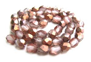 Czech Fire Polished beads 4mm Apollo Gold Matte x50