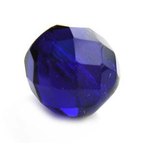 Czech Glass Fire Polished beads - 12mm Cobalt x1