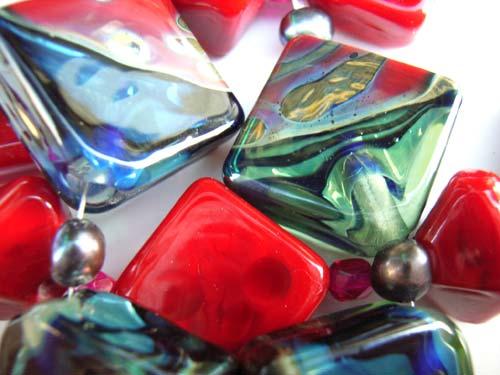 Ruby Abalone - Ian Williams Artisan Glass Lampwork Beads