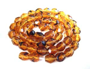 Czech Fire Polished beads 4mm Tortoise x50
