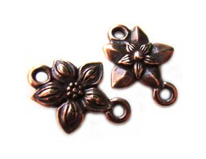 TierraCast Pewter Copper Plated Star Jasmine Link Connector x1