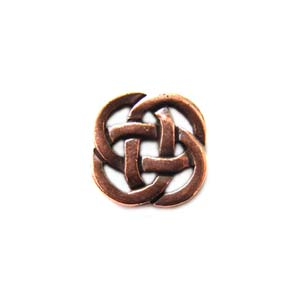 TierraCast Pewter Antique Copper Plated 8.5mm Celtic Open Link x1